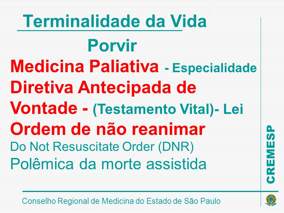Medicina Paliativa - Especialidade