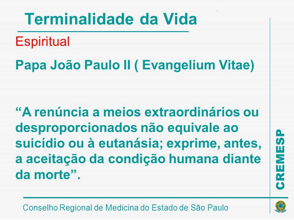 Terminalidade da Vida Espiritual