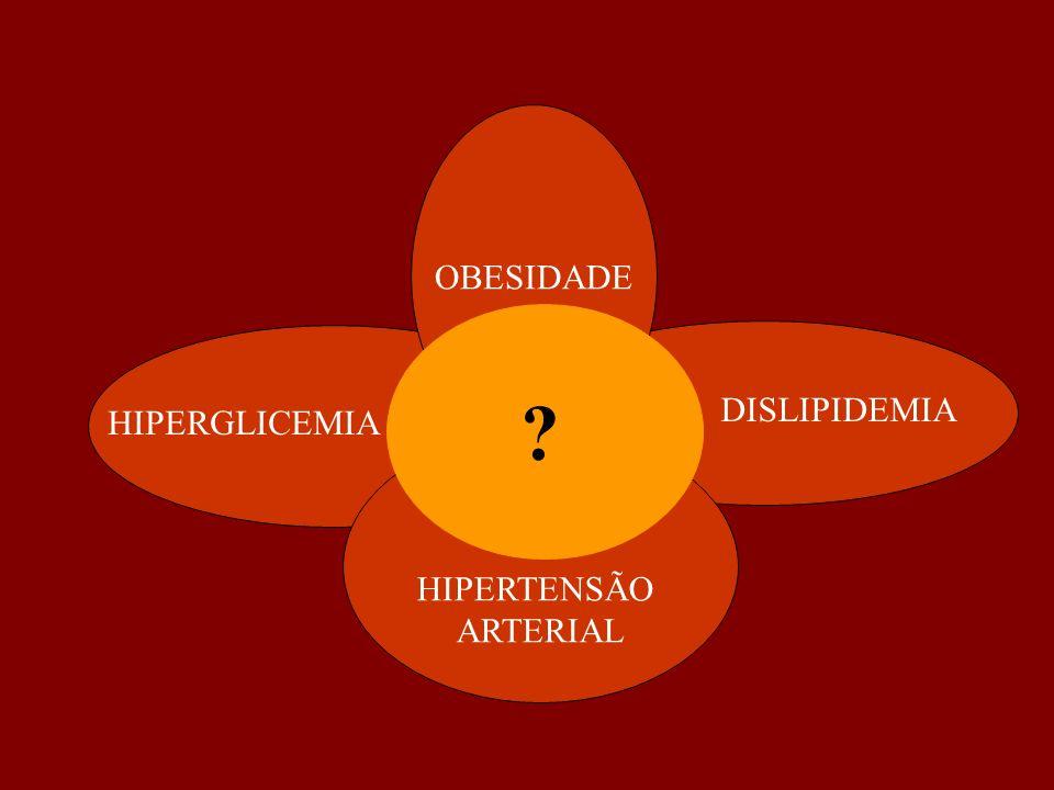 OBESIDADE HIPERGLICEMIA DISLIPIDEMIA HIPERTENSÃO ARTERIAL