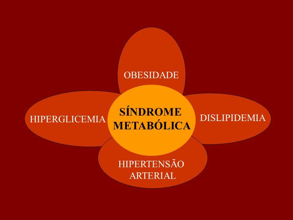 SÍNDROME METABÓLICA OBESIDADE DISLIPIDEMIA HIPERGLICEMIA HIPERTENSÃO