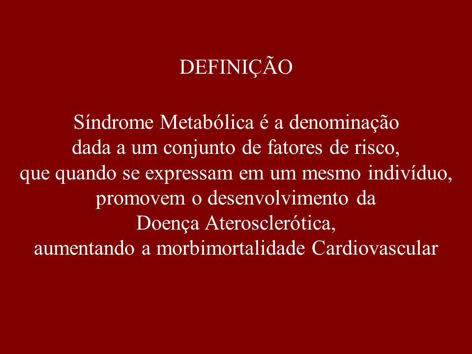 Síndrome Metabólica é a denominação