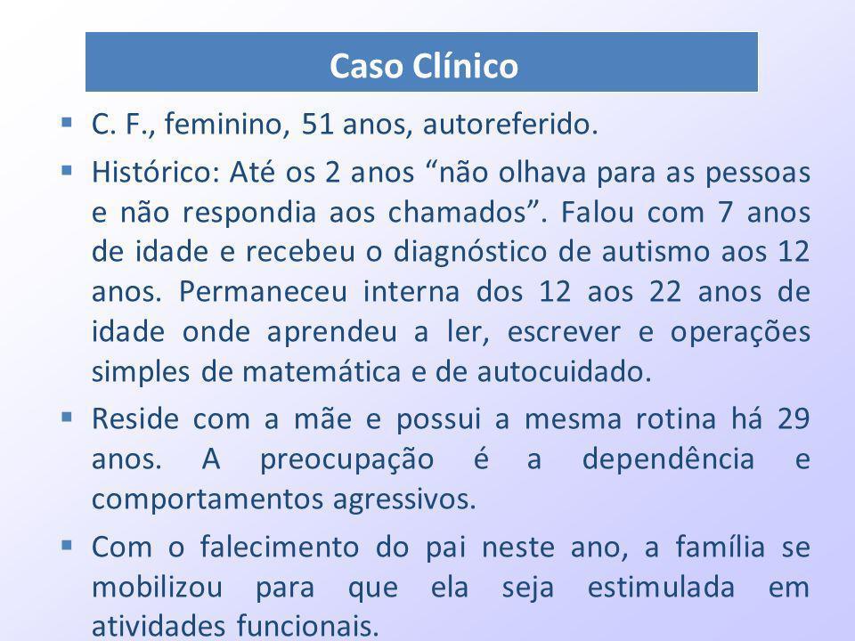 Caso Clínico C. F., feminino, 51 anos, autoreferido.