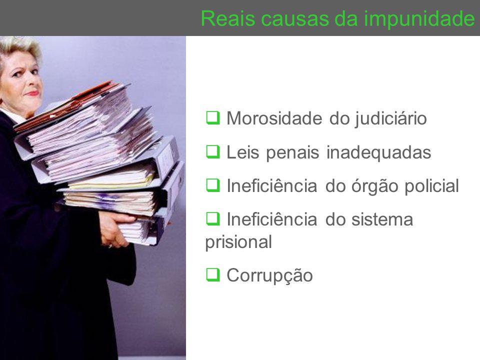 Reais causas da impunidade