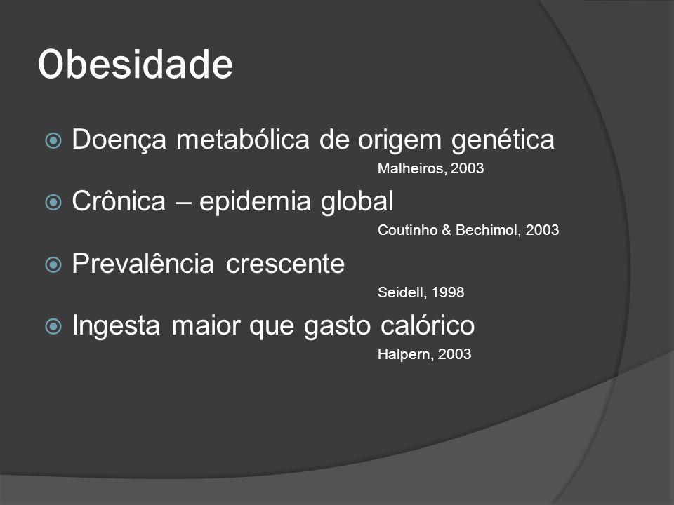 Obesidade Doença metabólica de origem genética