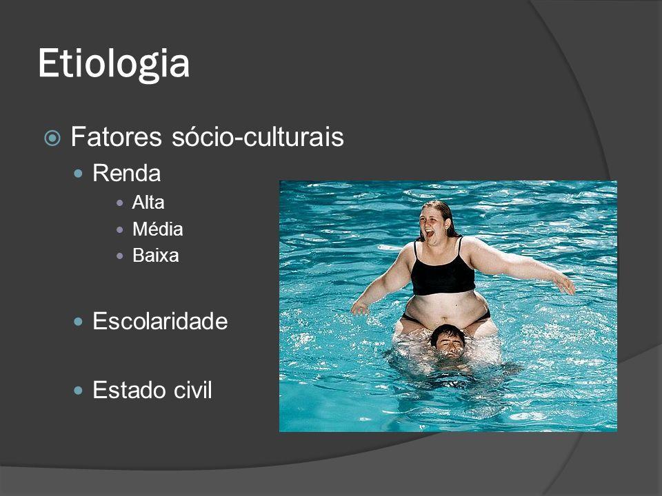 Etiologia Fatores sócio-culturais Renda Escolaridade Estado civil Alta