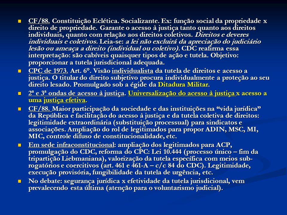 CF/88. Constituição Eclética. Socializante