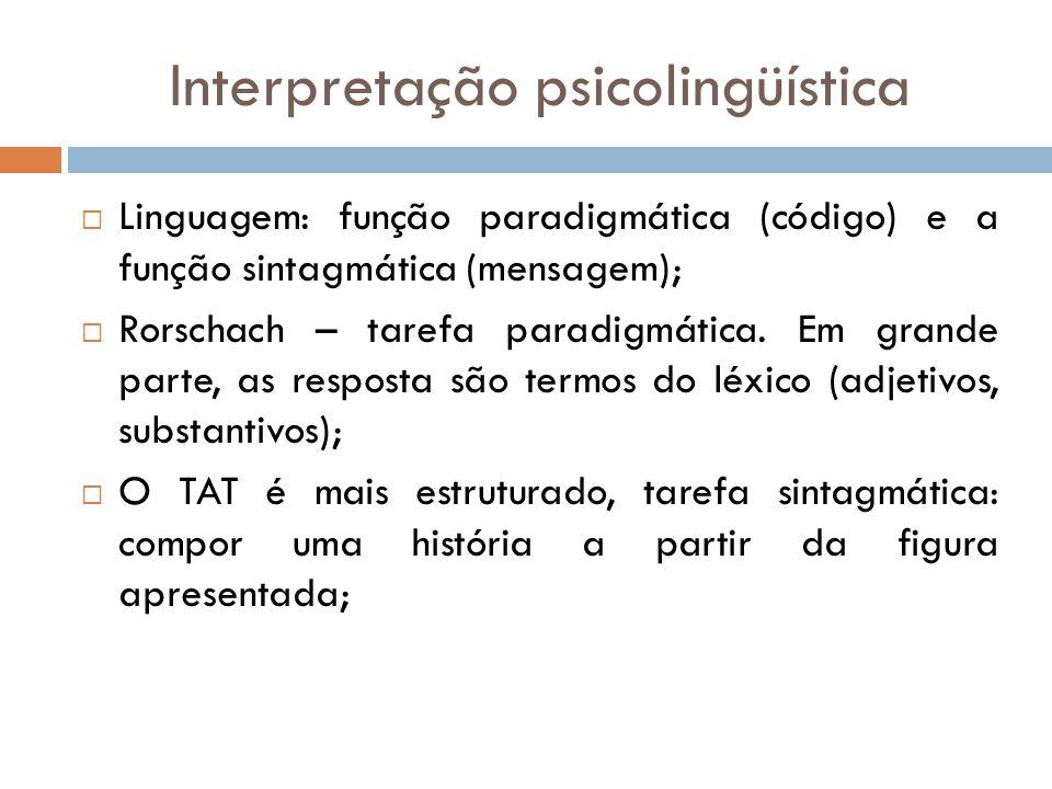 Interpretação psicolingüística