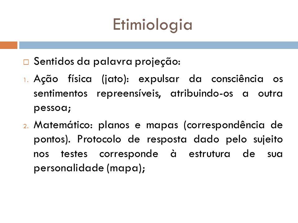Etimiologia Sentidos da palavra projeção: