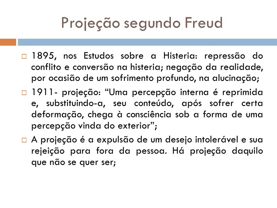 Projeção segundo Freud