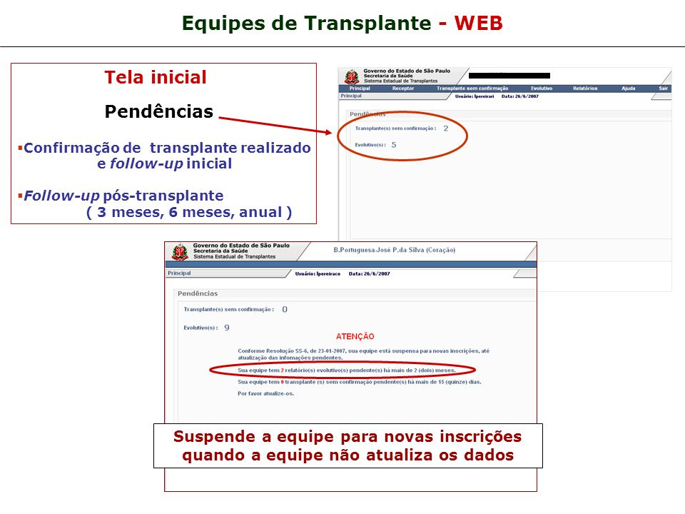 Equipes de Transplante - WEB
