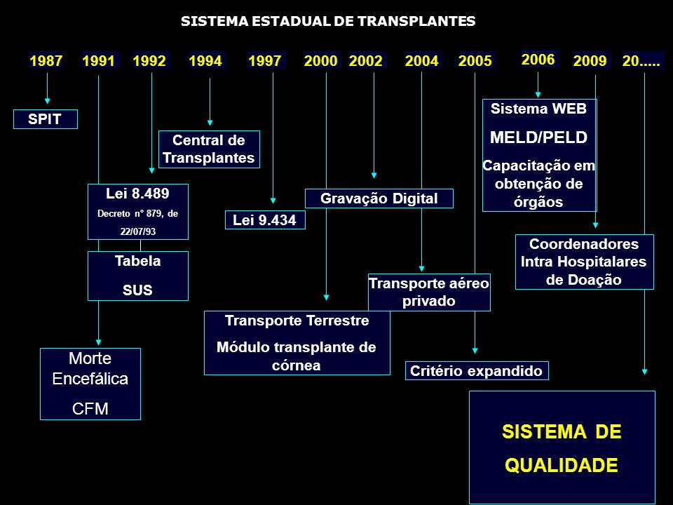 SISTEMA DE QUALIDADE MELD/PELD Morte Encefálica CFM 1987 1991 1992