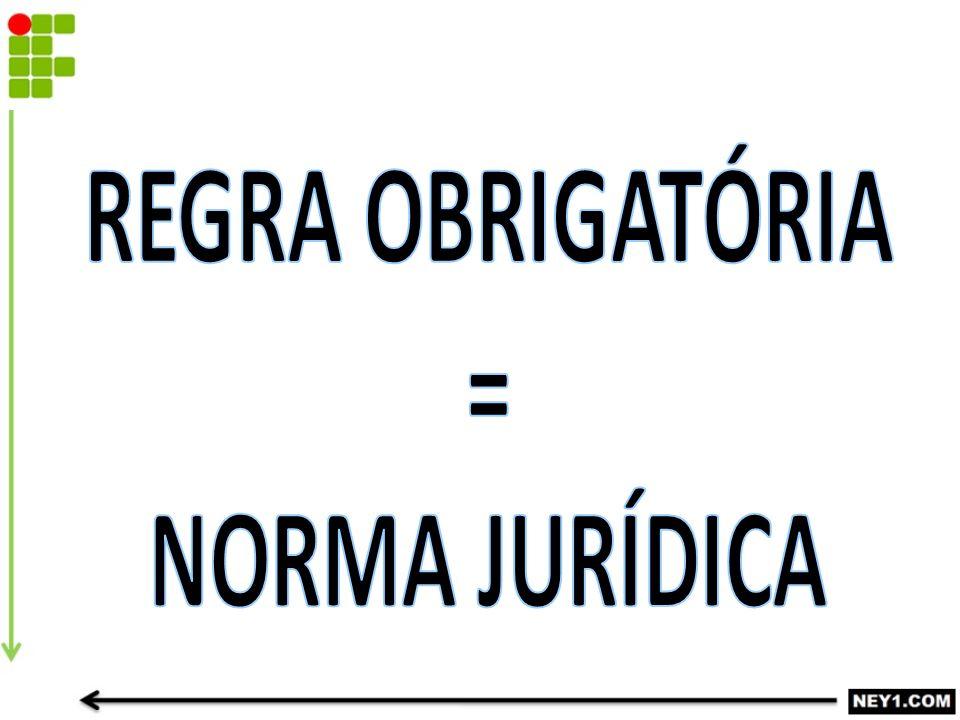 REGRA OBRIGATÓRIA = NORMA JURÍDICA