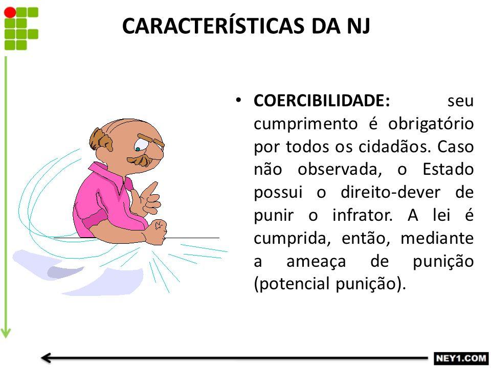 CARACTERÍSTICAS DA NJ