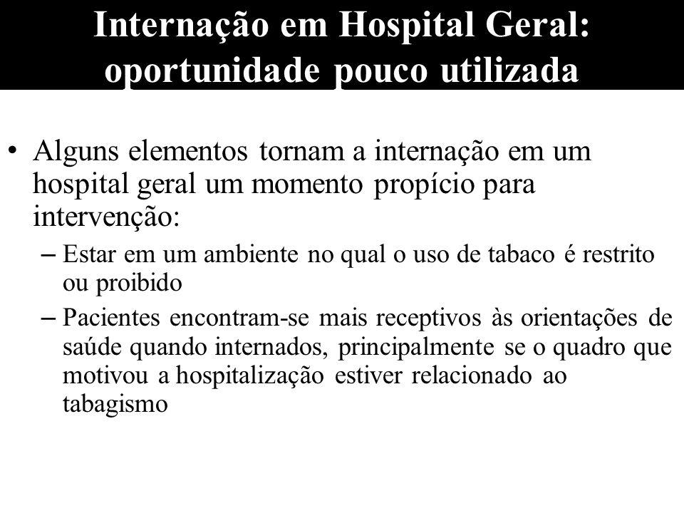 Internação em Hospital Geral: oportunidade pouco utilizada