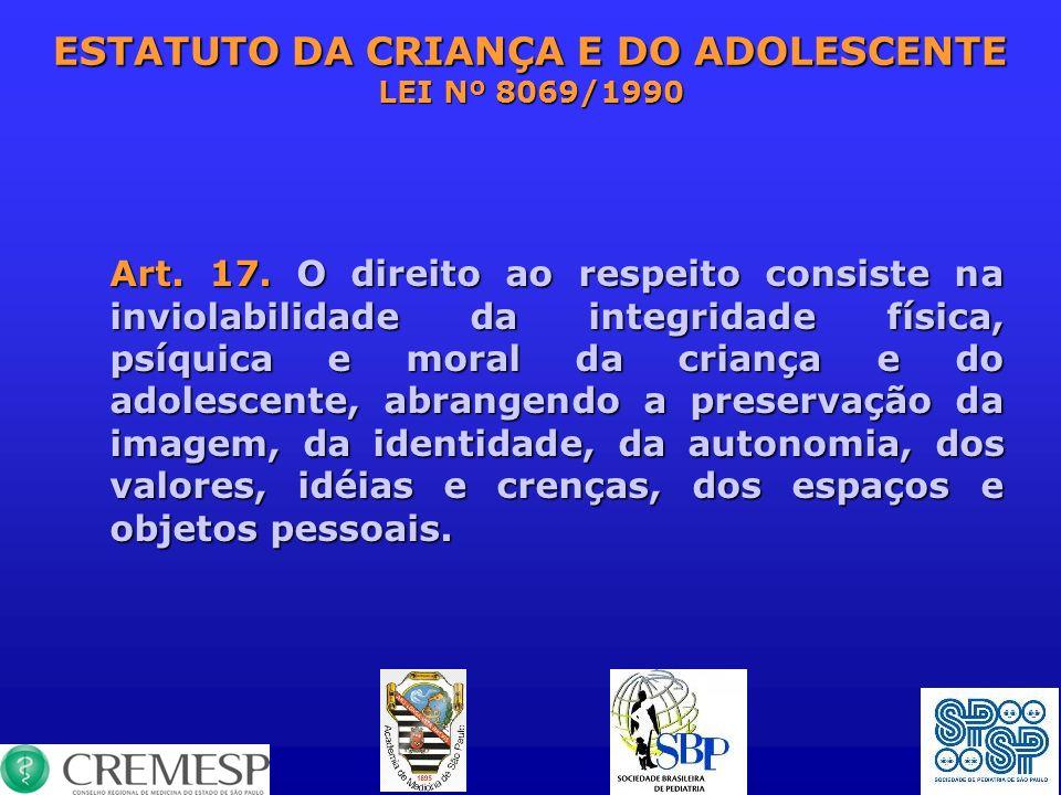 ESTATUTO DA CRIANÇA E DO ADOLESCENTE LEI Nº 8069/1990