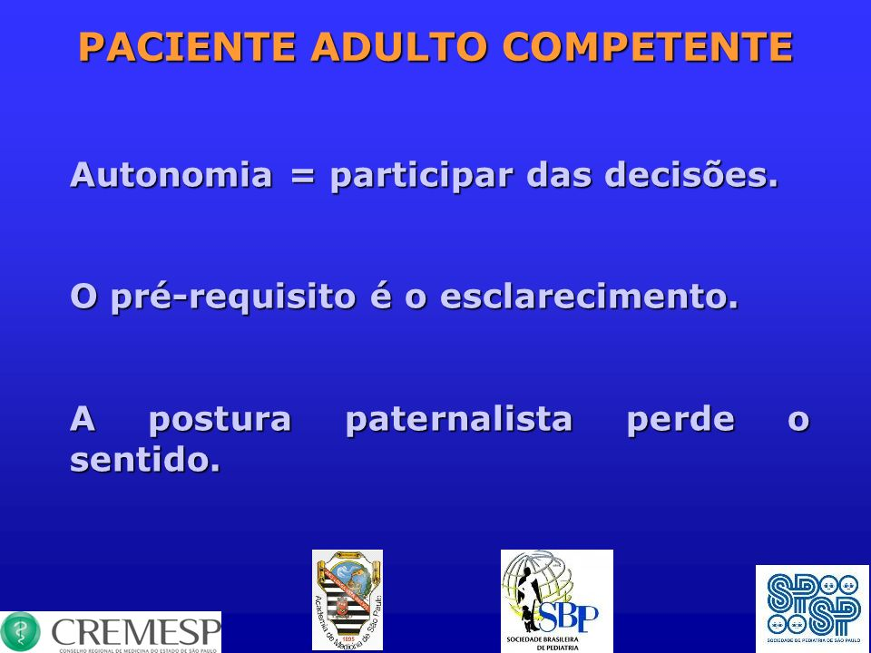 PACIENTE ADULTO COMPETENTE