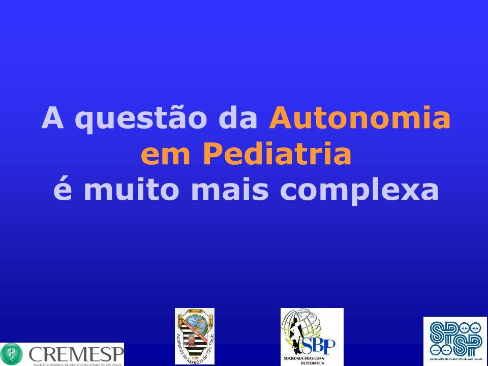 A questão da Autonomia em Pediatria