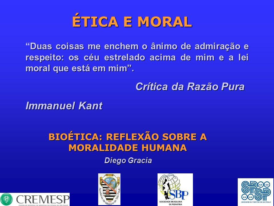 BIOÉTICA: REFLEXÃO SOBRE A MORALIDADE HUMANA