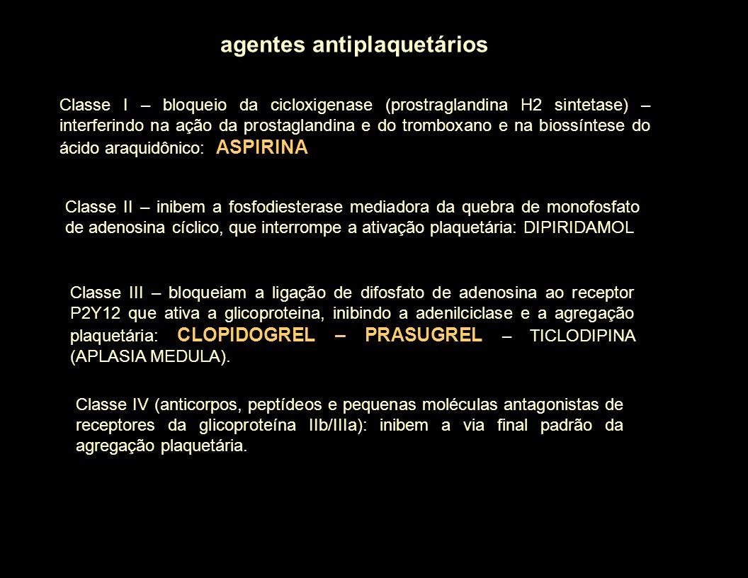 agentes antiplaquetários