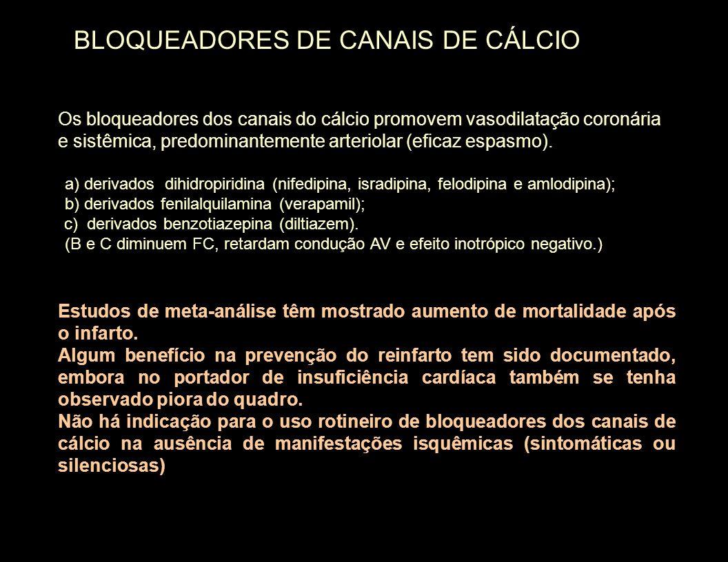 BLOQUEADORES DE CANAIS DE CÁLCIO