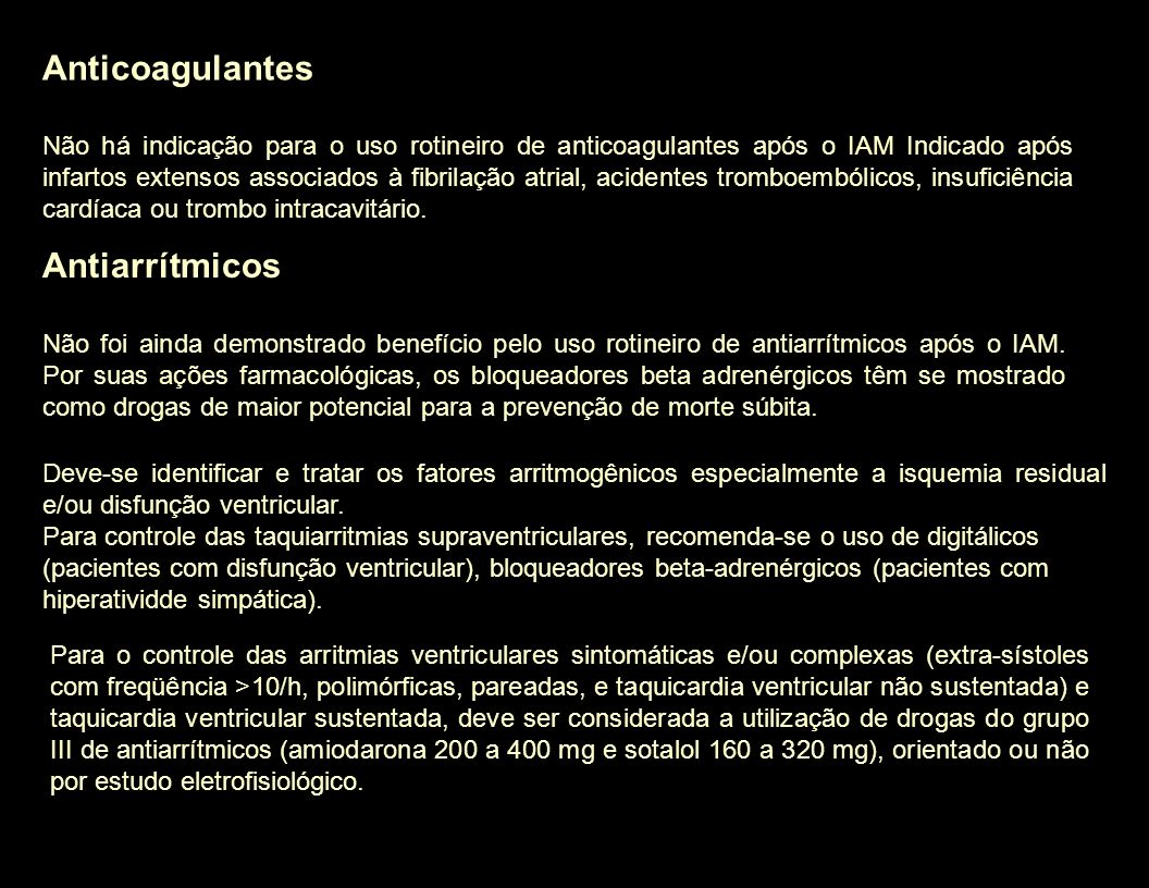 Anticoagulantes Antiarrítmicos
