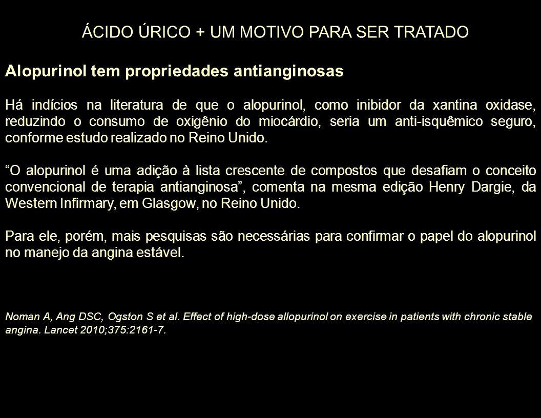ÁCIDO ÚRICO + UM MOTIVO PARA SER TRATADO