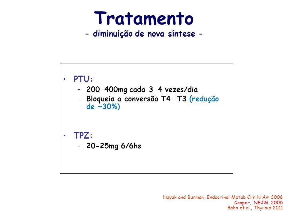Tratamento - diminuição de nova síntese -