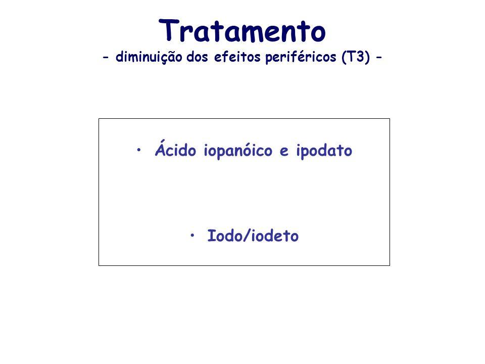 Tratamento - diminuição dos efeitos periféricos (T3) -