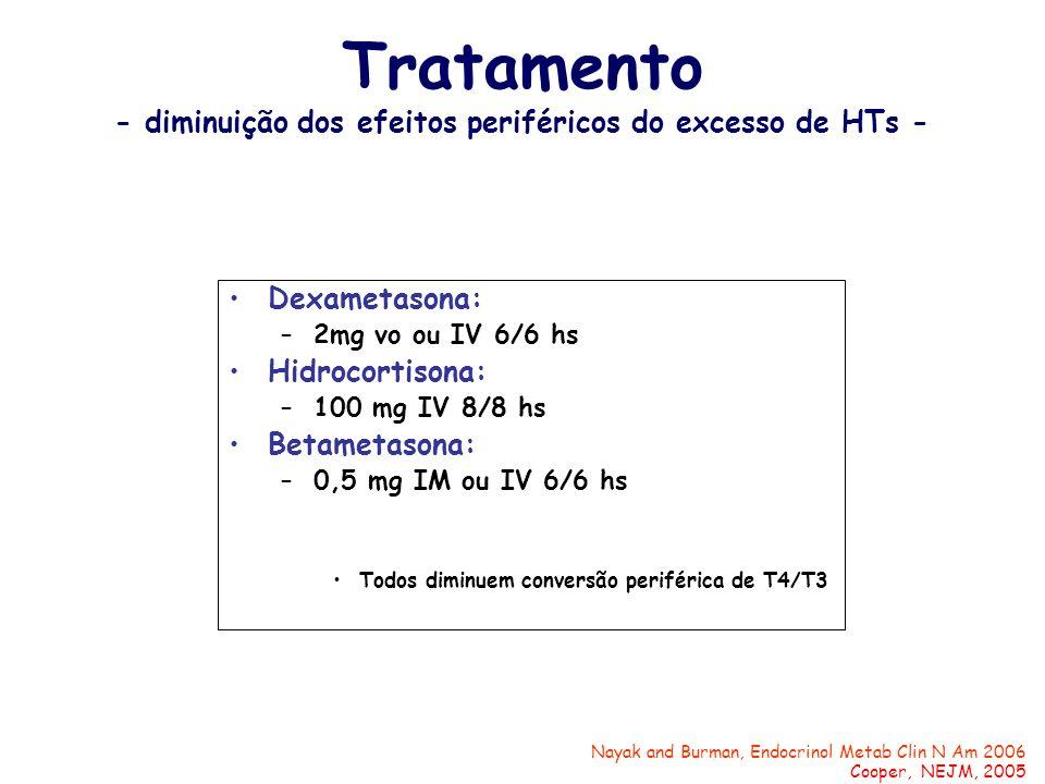 Tratamento - diminuição dos efeitos periféricos do excesso de HTs -