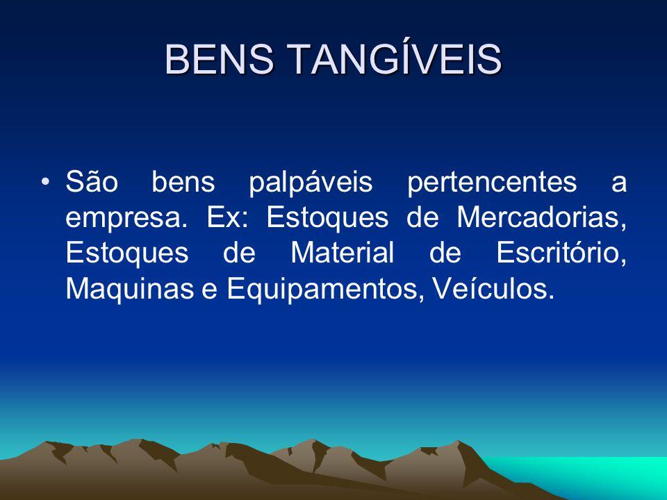 BENS TANGÍVEIS