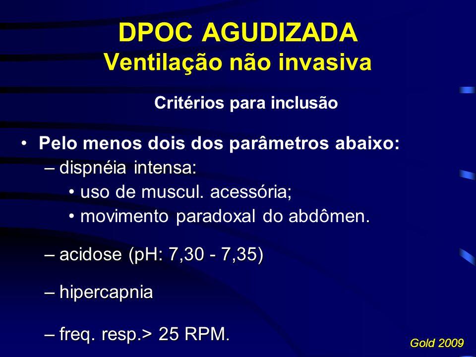 DPOC AGUDIZADA Ventilação não invasiva