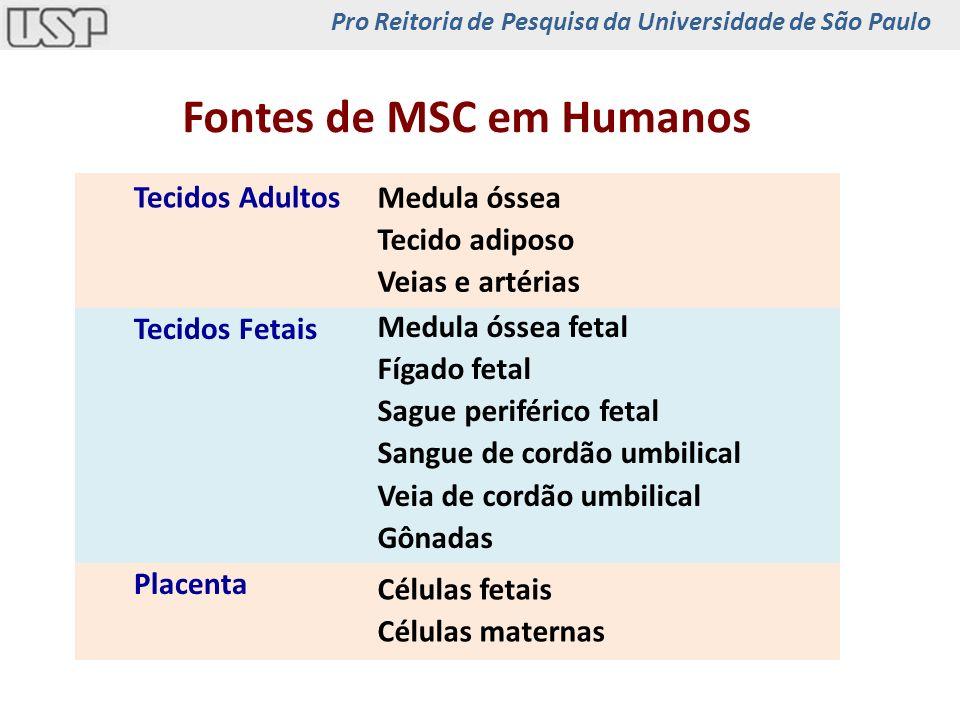 Fontes de MSC em Humanos