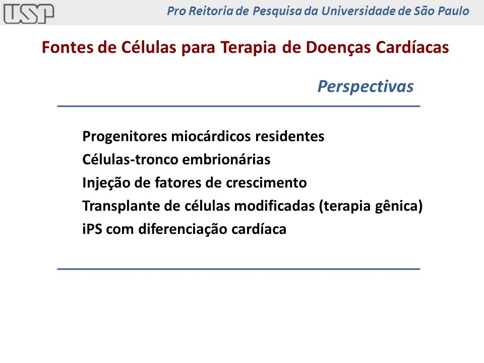 Fontes de Células para Terapia de Doenças Cardíacas