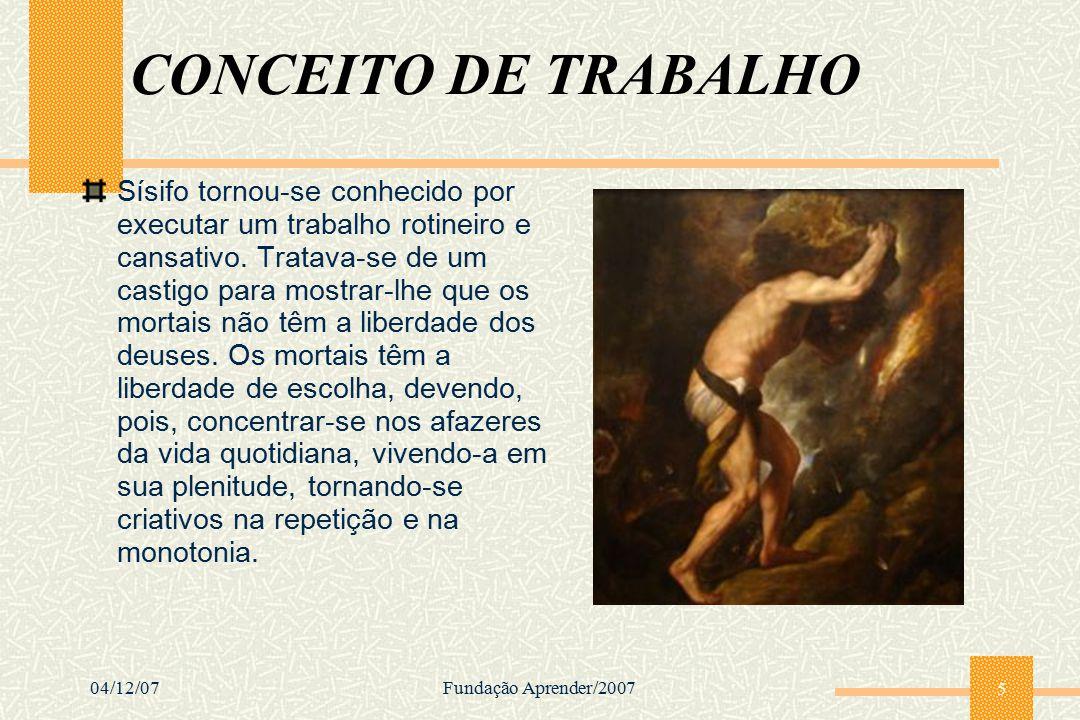 CONCEITO DE TRABALHO