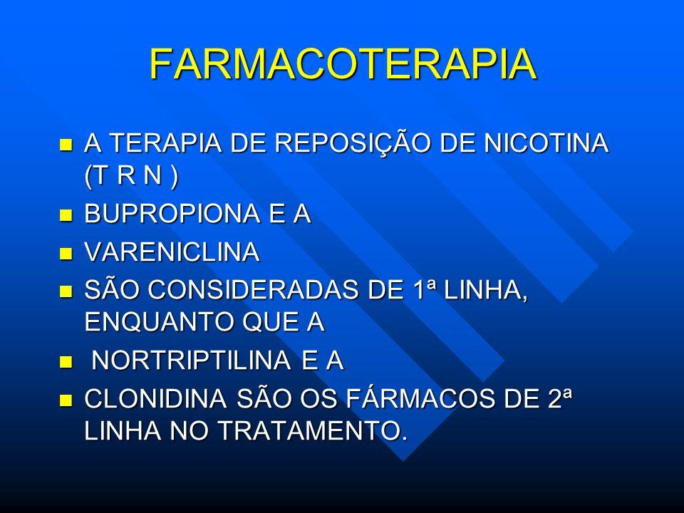 FARMACOTERAPIA A TERAPIA DE REPOSIÇÃO DE NICOTINA (T R N )