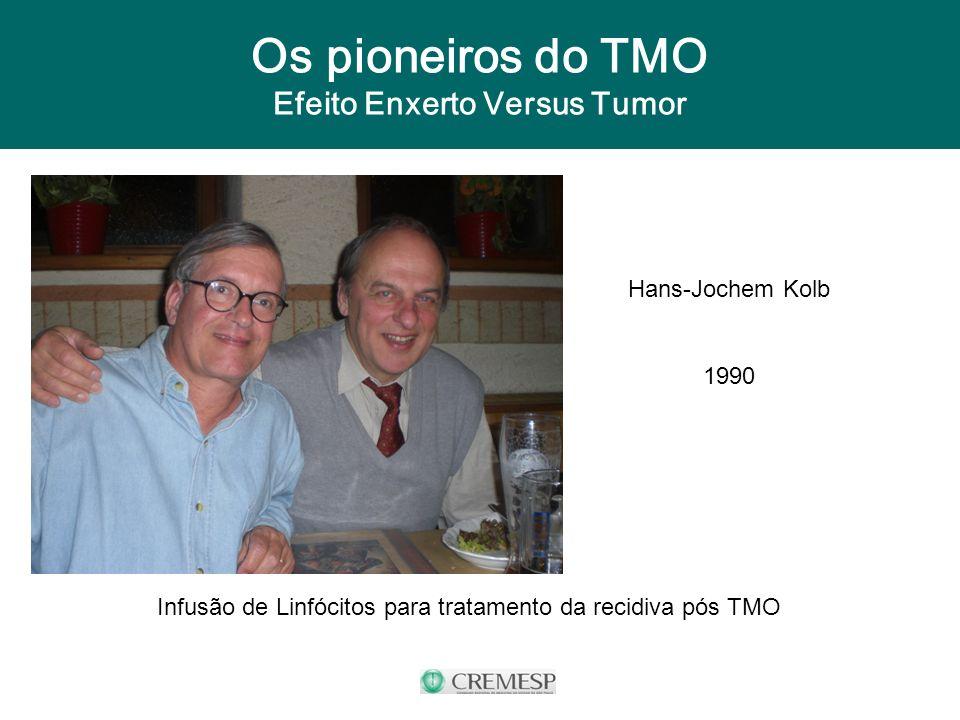 Os pioneiros do TMO Efeito Enxerto Versus Tumor