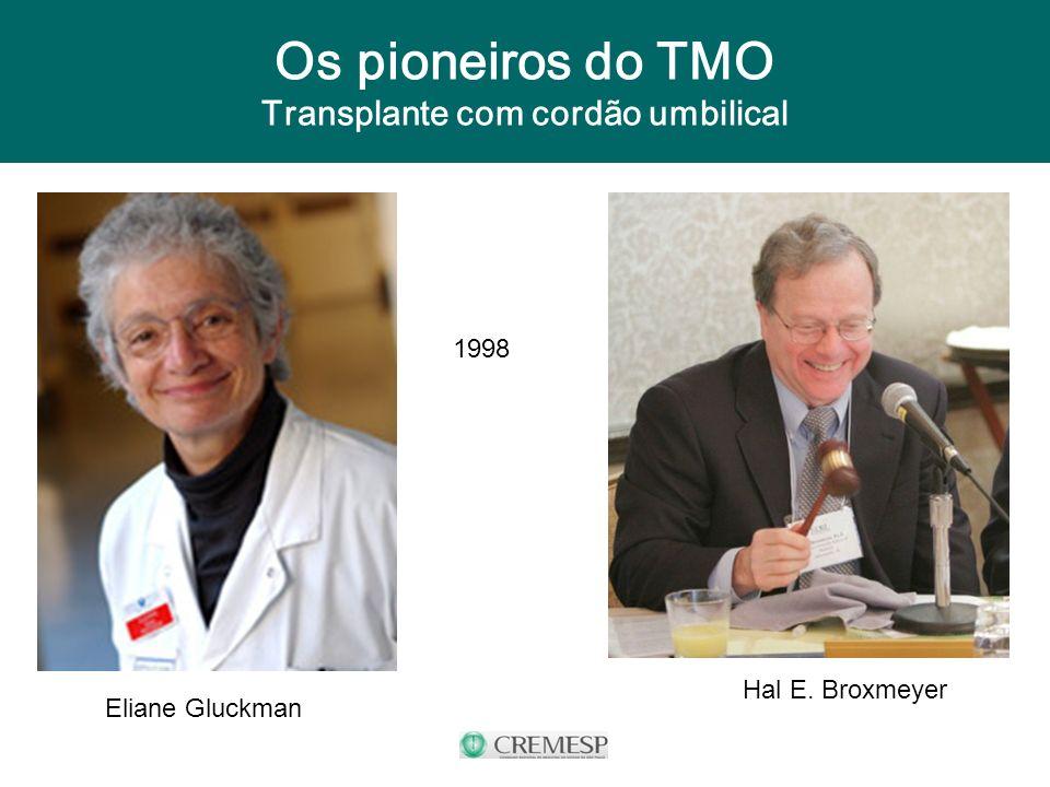 Os pioneiros do TMO Transplante com cordão umbilical