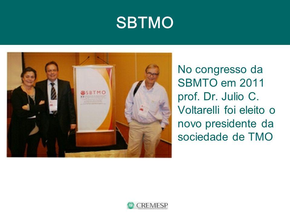SBTMO No congresso da SBMTO em 2011 prof. Dr. Julio C.