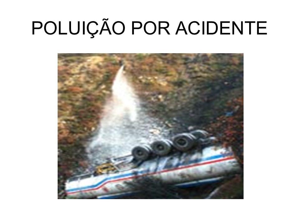 POLUIÇÃO POR ACIDENTE
