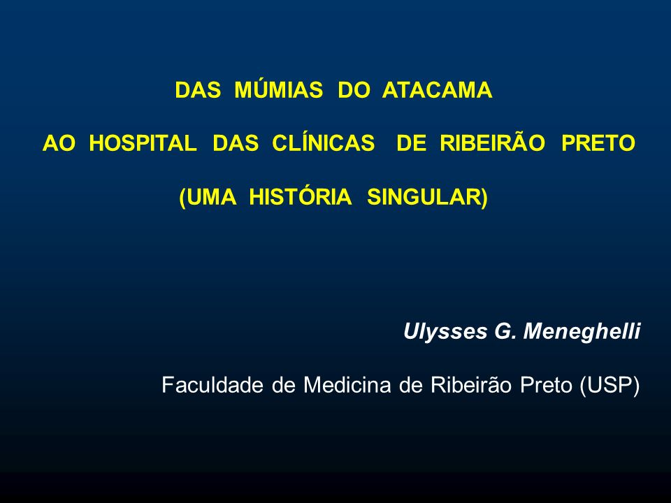 AO HOSPITAL DAS CLÍNICAS DE RIBEIRÃO PRETO (UMA HISTÓRIA SINGULAR)