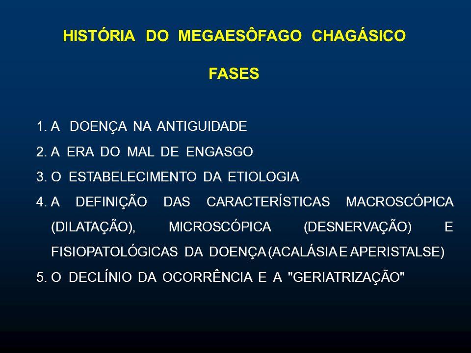 HISTÓRIA DO MEGAESÔFAGO CHAGÁSICO