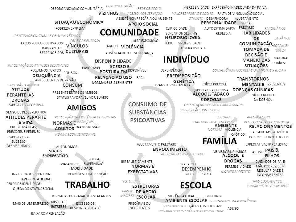 COMUNIDADE INDIVÍDUO FAMÍLIA TRABALHO