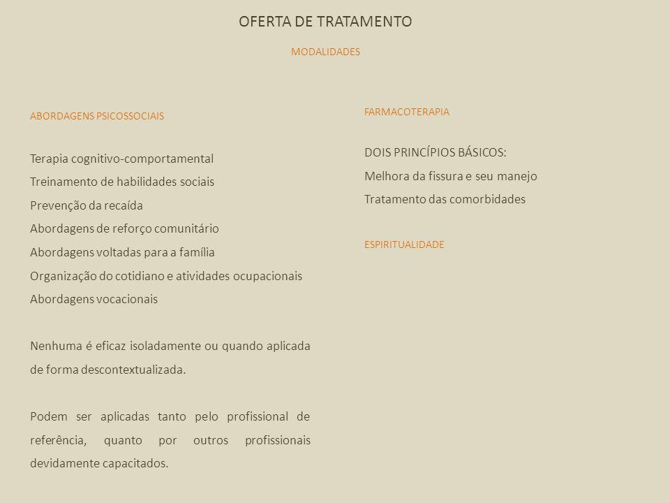 OFERTA DE TRATAMENTO DOIS PRINCÍPIOS BÁSICOS:
