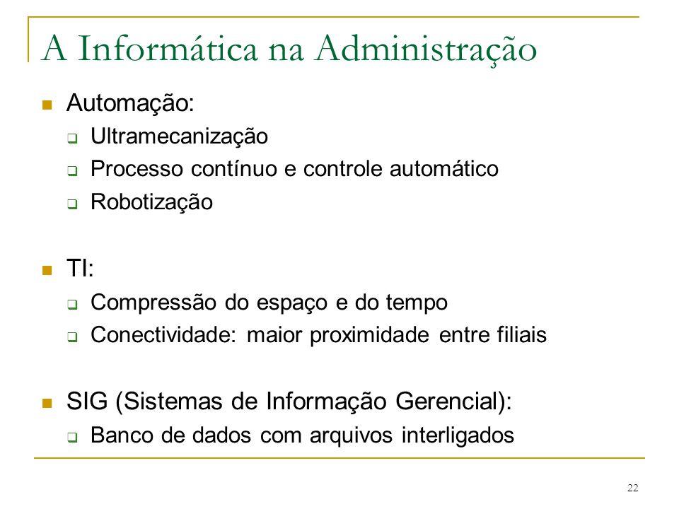 A Informática na Administração