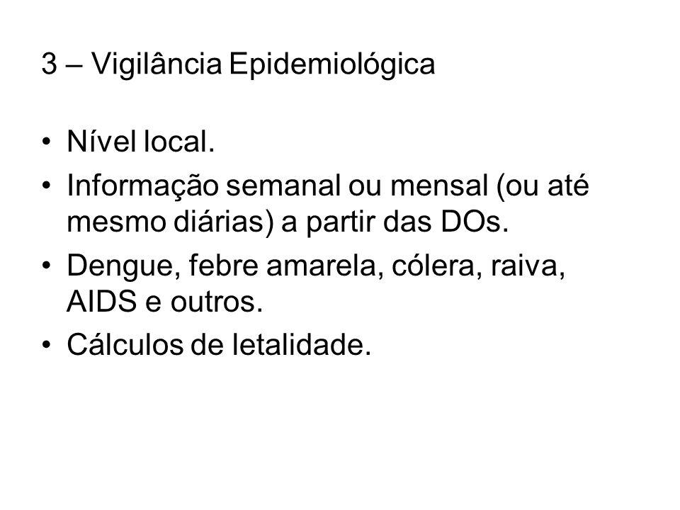 3 – Vigilância Epidemiológica