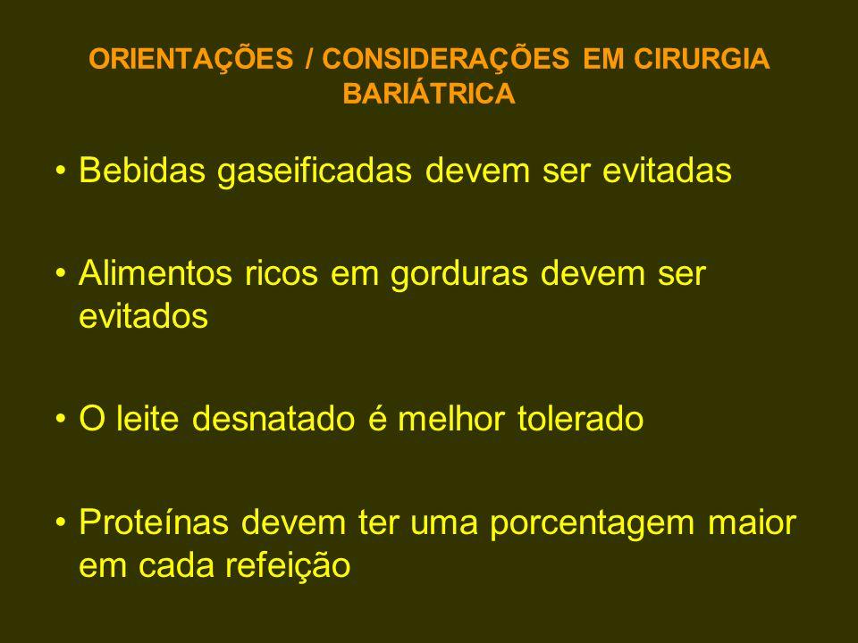 ORIENTAÇÕES / CONSIDERAÇÕES EM CIRURGIA BARIÁTRICA
