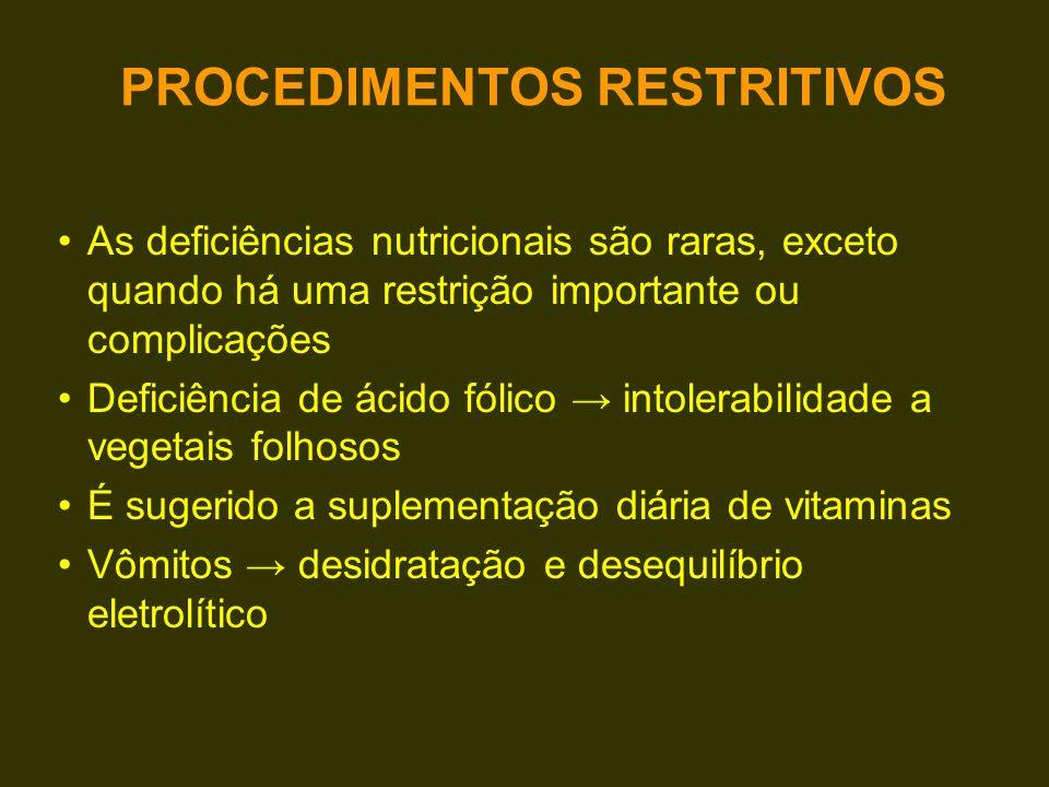 PROCEDIMENTOS RESTRITIVOS