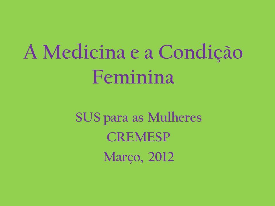 A Medicina e a Condição Feminina