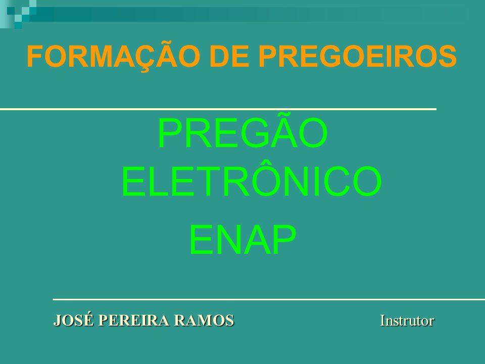 FORMAÇÃO DE PREGOEIROS