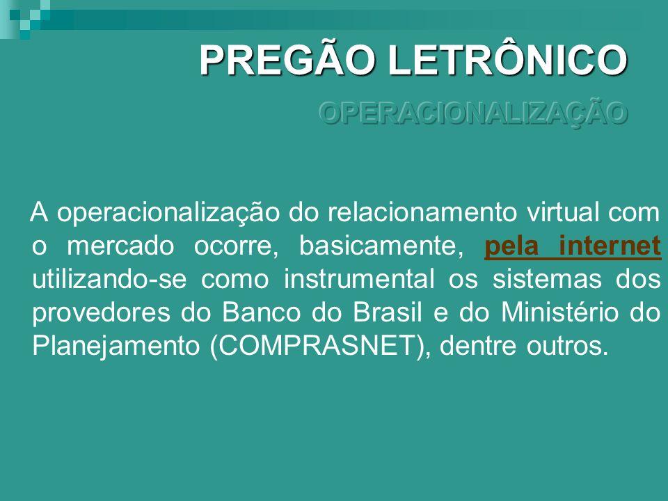 PREGÃO LETRÔNICO OPERACIONALIZAÇÃO